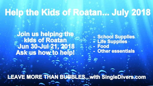 POSTER Roatan KIDS Leave more than bubbles