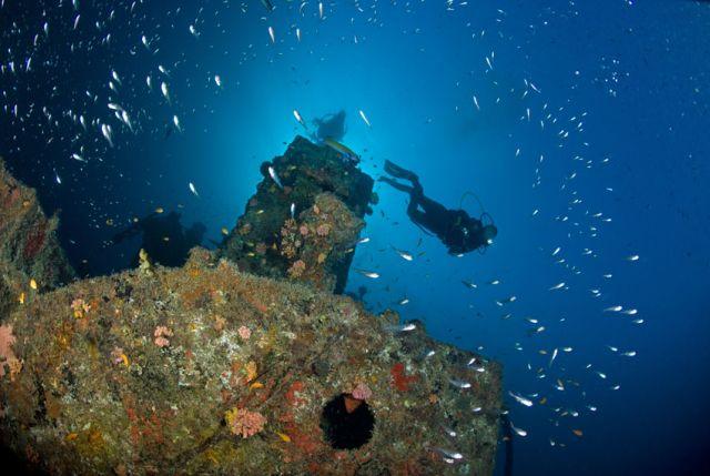 Diver Wreck Carpe Vita Explorer Maldives Explorer Ventures Liveaboard Diving