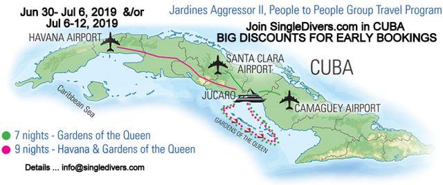 POSTER Cuba 4 ISLAND Map